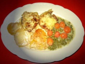 Schweinelendchen auf Kartoffelgratin unter Kartoffelkruste - Rezept