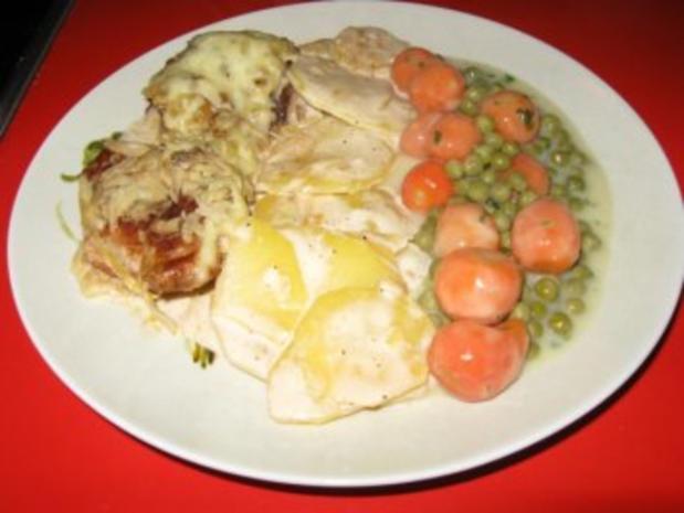 Schweinelendchen auf Kartoffelgratin unter Kartoffelkruste - Rezept - Bild Nr. 2
