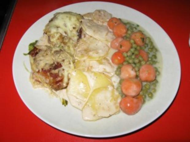 Schweinelendchen auf Kartoffelgratin unter Kartoffelkruste - Rezept - Bild Nr. 12