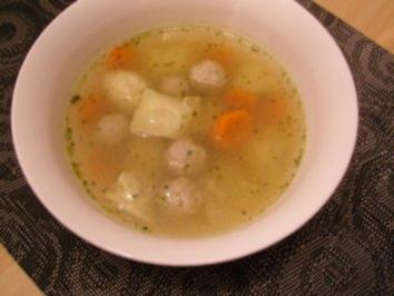 Suppe mit Einlage - Rezept