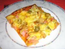 Pizza  Mista mit Schinken und  Thunfisch - Rezept