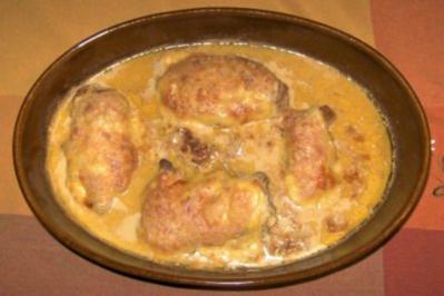 Gratiniertes Hähnchenfilet mit dreierlei Käse - Rezept