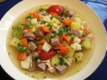 Gemüse-Eintopf mit Rindfleisch und Huhn ... - Rezept