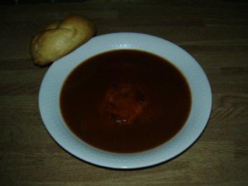 Leberkäse in Gulaschsaft - Rezept