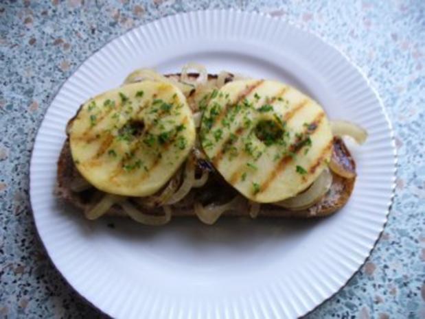 Apfel-Leberwurst-Snack - Rezept