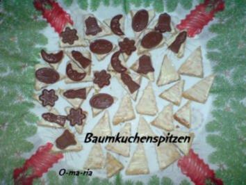 Kleingebäck  Baumkuchenspitzen - Rezept
