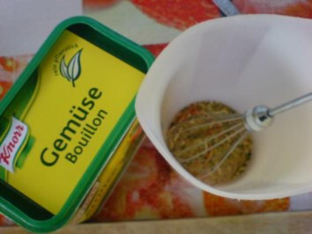 Gemüsebratlinge mit Schnittlauchdip - Rezept - Bild Nr. 7