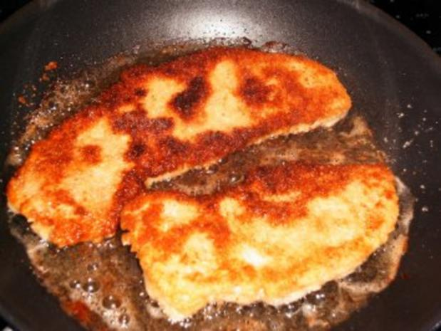 Schweineschnitzel mit Champignon-Rahm-Soße mit Kartoffelrösti - Rezept - Bild Nr. 4
