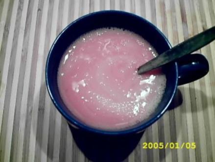 "Heißgetränk: ""banana strawberry chocolate"" - Rezept"