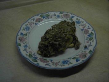 Rezept: Fleisch - Hühnerbrust mit Oliven-Nuss-Kruste