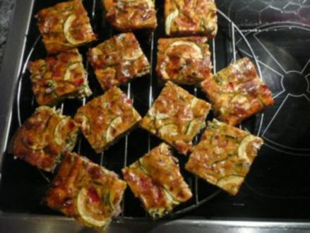 FINGERFOOD/GEMÜSE+SCHINKEN:Knoblauch-Frittata mit Lauch - Rezept