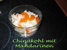 Chinakohlsalat mit Mandarinen - Rezept