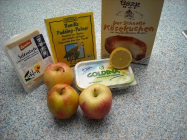 Apfel-Käse-Kuchen, vegan - Rezept - Bild Nr. 2