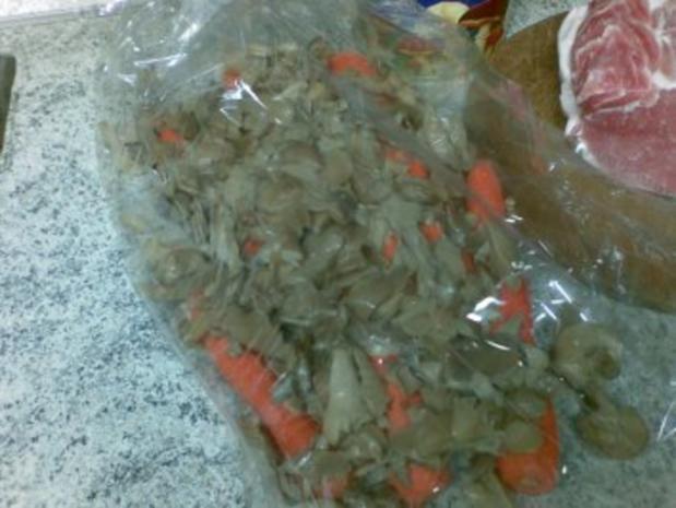 Schlauchbraten mit Pilzen und Karotten - Rezept - Bild Nr. 3