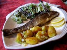 Forelle aus dem Ofen mit Schwenkkartoffeln - Rezept