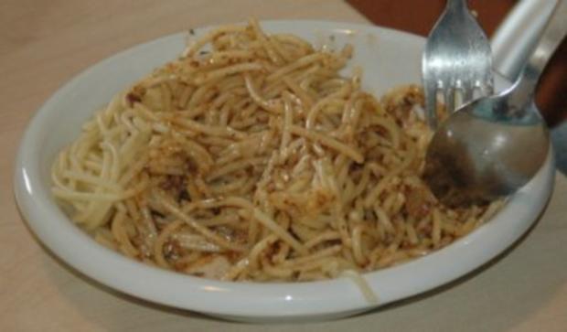 Spaghetti mit Walnuss Sauce - Rezept