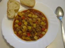Bauerntopf mit Hackfleisch und Paprika - Rezept