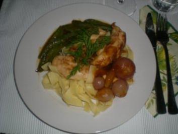 Tagliatelle mit Hühner Filet und Orangen Sauce - Rezept