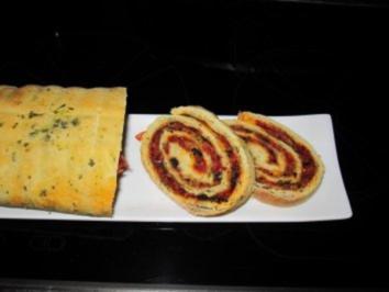 BROT :Herzhafter Salami-Oliven-Kuchen - Rezept