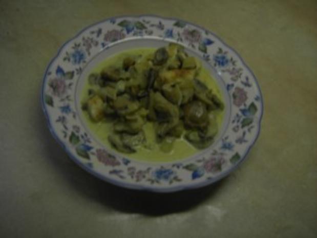 Fleisch - Hähnchengeschnetzeltes mit Pilzen - Rezept - Bild Nr. 4