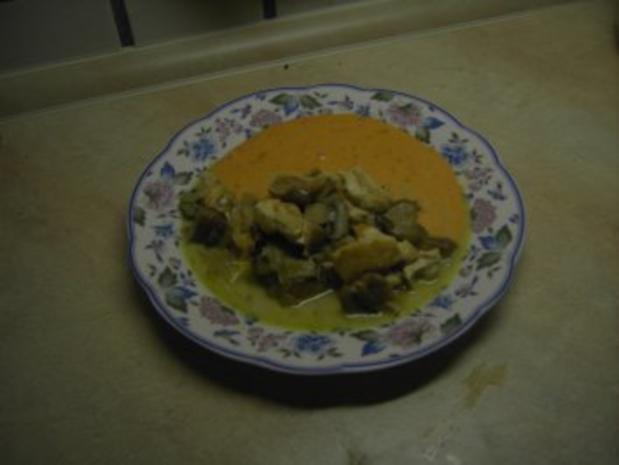 Fleisch - Hähnchengeschnetzeltes mit Pilzen - Rezept