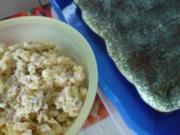 Ein schneller Kartoffelsalat, Mooskuchen und Schmätzchen für die Weihnachtsfeier mit Freunden - Rezept