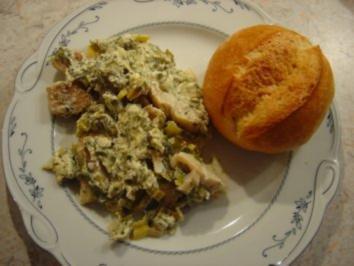 Rezept: Fisch-Auflauf mit Porree und Frischkäse...