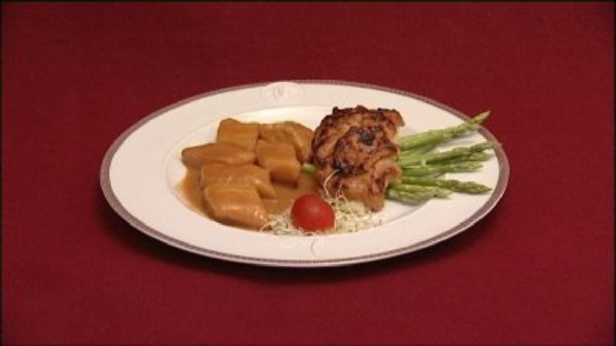 Zanderfilet mit Scampikruste und Hummer-Gnocchi (Romina Becks) - Rezept Von Einsendungen Das perfekte Promi Dinner