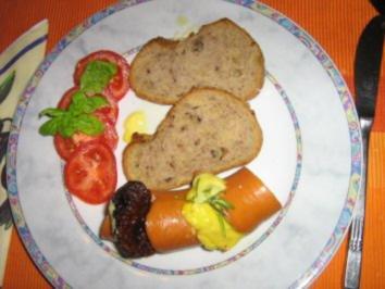 Rezept: Gebackene Fleischwurst gefüllt