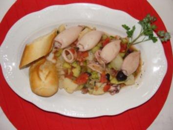 Fisch - Ensalada de Chipirones - - Rezept