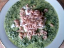 Grünkohlsuppe mit Nordseekrabben - Rezept