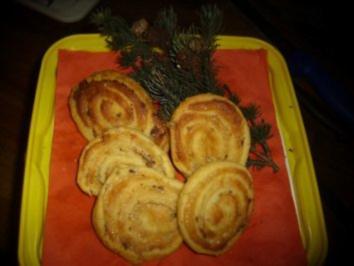 Backwerk / Plätzchen: Marzipan-Spiralen mit Schokoraspeln - Rezept