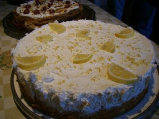 Torte : Zitronen - Frischkäse - Torte - Rezept - Bild Nr. 3