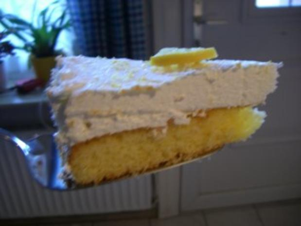 Torte : Zitronen - Frischkäse - Torte - Rezept