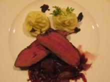 Rinderfilet auf Rotwein-Schalottenbutter mit Kartoffel- Trüffelpüree - Rezept