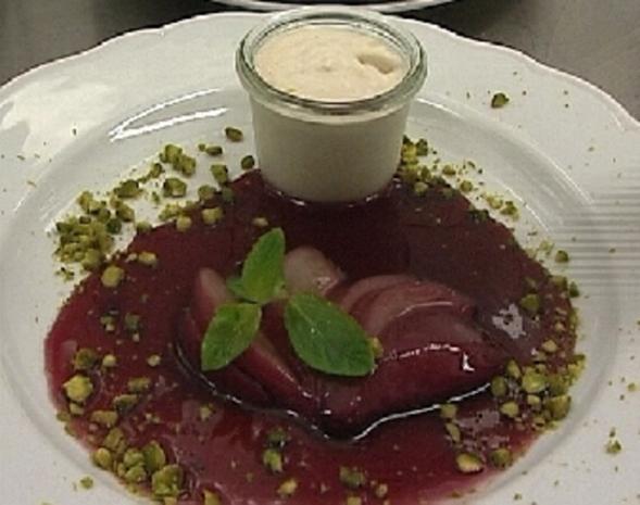 Haselnussmousse an Rotweinbirnen - Rezept - Bild Nr. 9