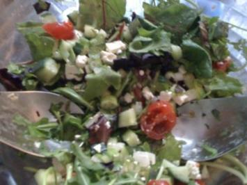 Rezept: Satt mit Salat (vegetarisch)