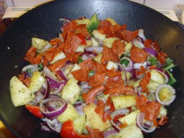 Bulgarische Paprika – Kartoffel Pfanne…. - Rezept - Bild Nr. 5