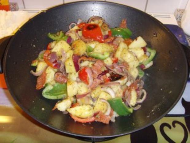 Bulgarische Paprika – Kartoffel Pfanne…. - Rezept - Bild Nr. 6