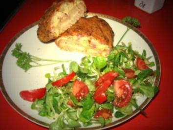 gratiniertes Käsebrot mit Salat - Rezept