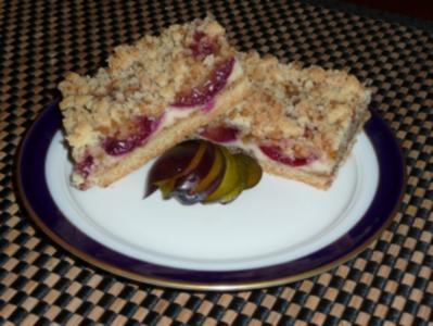 Pflaumenkuchen mit Vanille-Nuss-Streuseln - Rezept