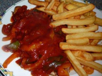 Zwiebel-Paprika-Schnitzel - Rezept