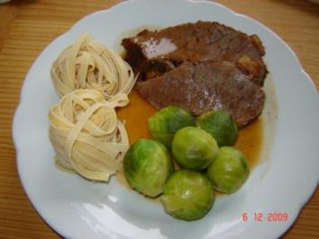 Fleisch : Rinderschmorbraten - Rezept