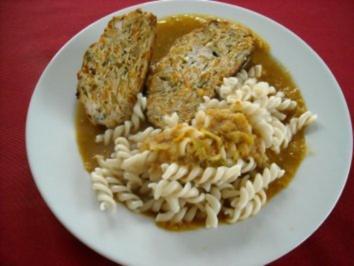 Putenhackbraten mit Lauch-Meerrettich-Sauce - Rezept