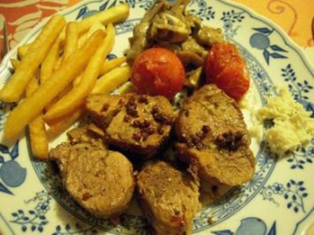 Schweinemedaillons mit Champignons und gegrillten Tomaten - Rezept - Bild Nr. 5