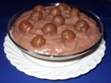 Schokomelonenkugeln auf Schokocreme - Rezept