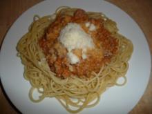Spaghetti Bolognese a la Nadine - Rezept