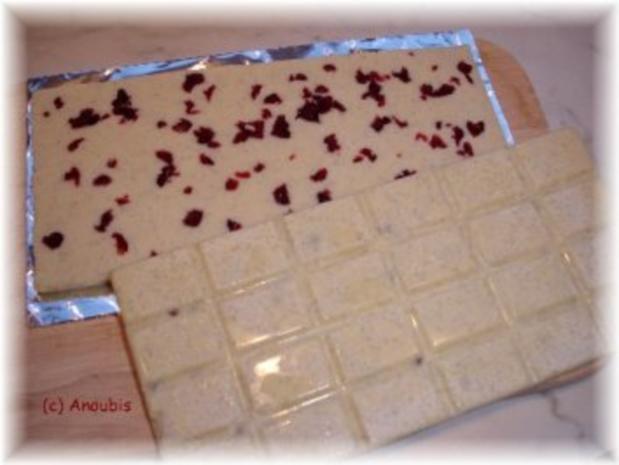 Nascherei - Schokolade mit Vanille und Cranberry - Rezept