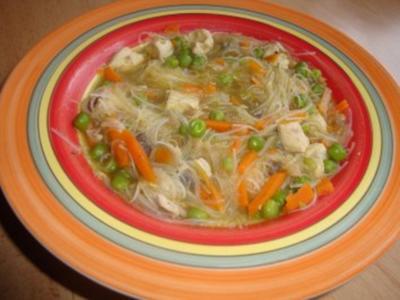 Hühnersuppe mit Glasnudeln - Rezept