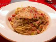 Moqueca de peixe com spaghetti-Gekochte fisch mit Spaghetti - Rezept
